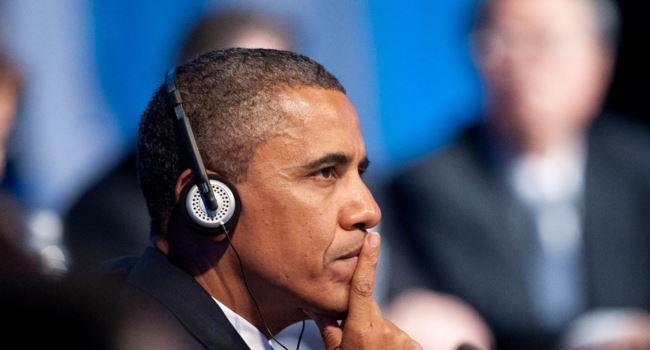 Obama listening to music