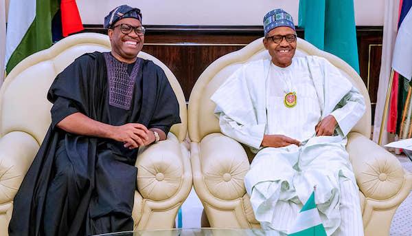 President Muhammadu Buhari today received in audience Dr. Akinwunmi Adesina