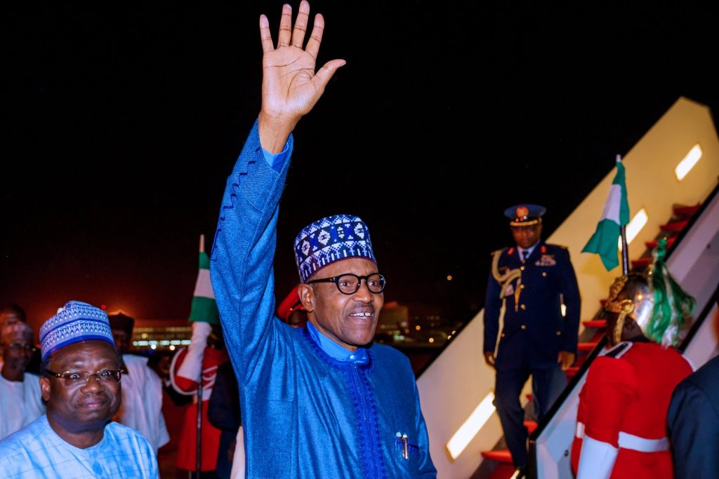 buhari back to niger