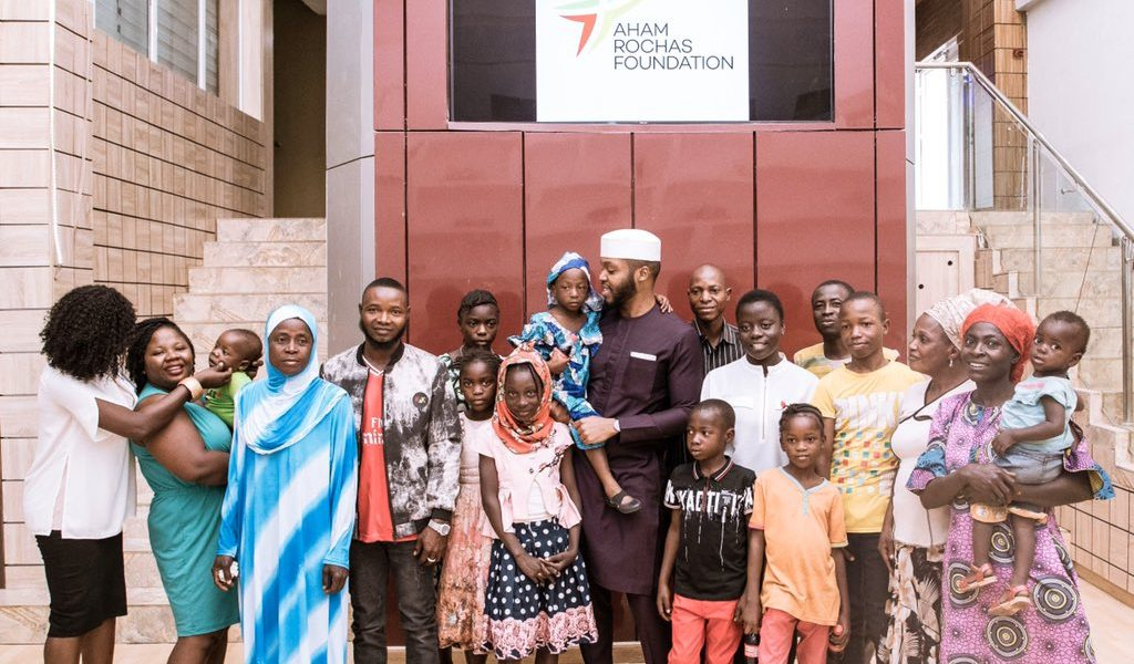 Aham Rochas receives beneficiaries from his Scholarship Program.