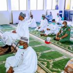 Buhari attends friday prayer at state house mosque